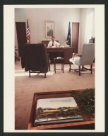 Senator Bob Dole working, 1985