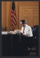 Bob Dole at desk