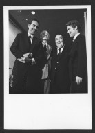 Senator Bob Dole laughing with Hubert Humphrey and others, 1977