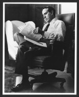Senator Dole Reviewing 1983 Budget
