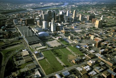 Downtown Kansas City, Missouri, future site of the performing arts center