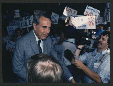 Senator. Bob Dole campaigning in Iowa, c. 1988