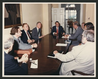 Tax reform meeting, 1986