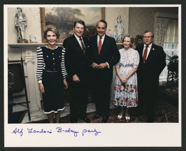Celebrating Alf Landon's 100th Birthday Party, 1987