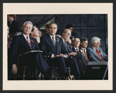 Bob Dole and Senators attending U.S. Constitution Bicentennial event, 1987