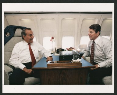 Senator Bob Dole and President Ronald Reagan