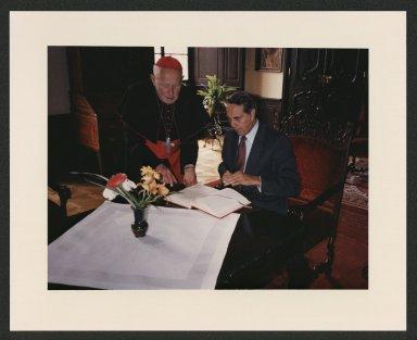 Dole meets with Czech Cardinal Frantisek Tomasek, 1985