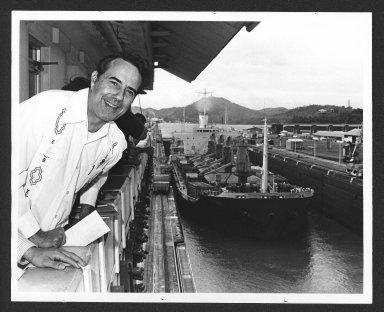 Senator Bob Dole touring Panama Canal, 1978