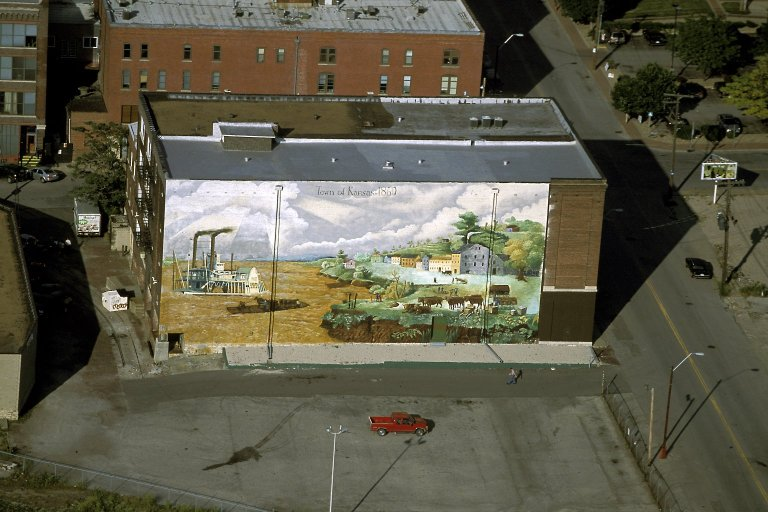 Town of Kansas mural in River Market