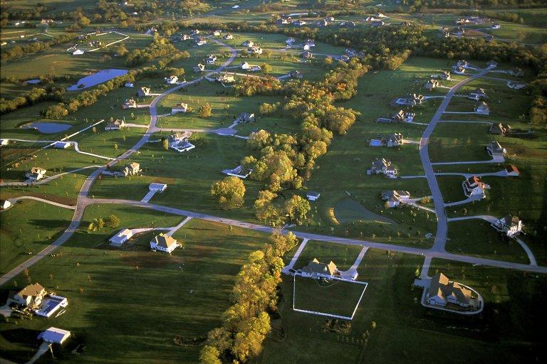 Large-lot exurban homes