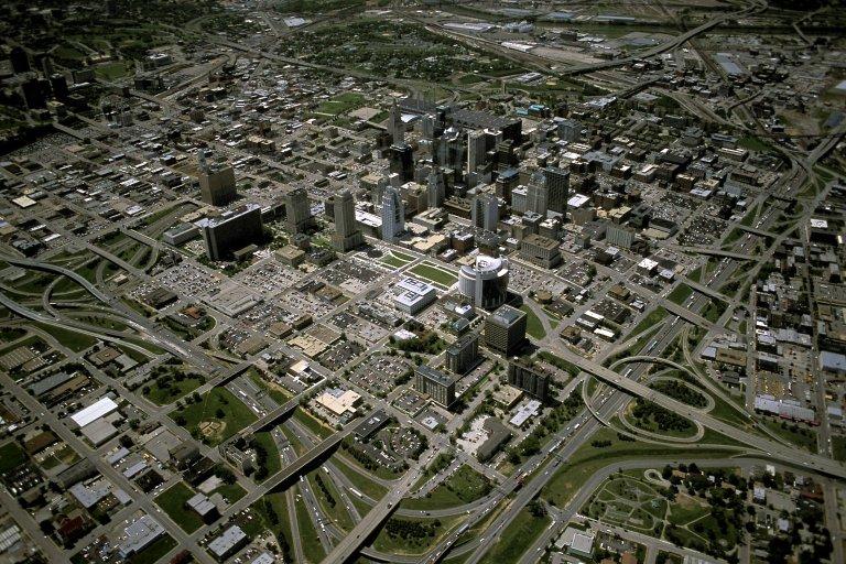 Downtown Kansas City, Missouri, overview from northeast