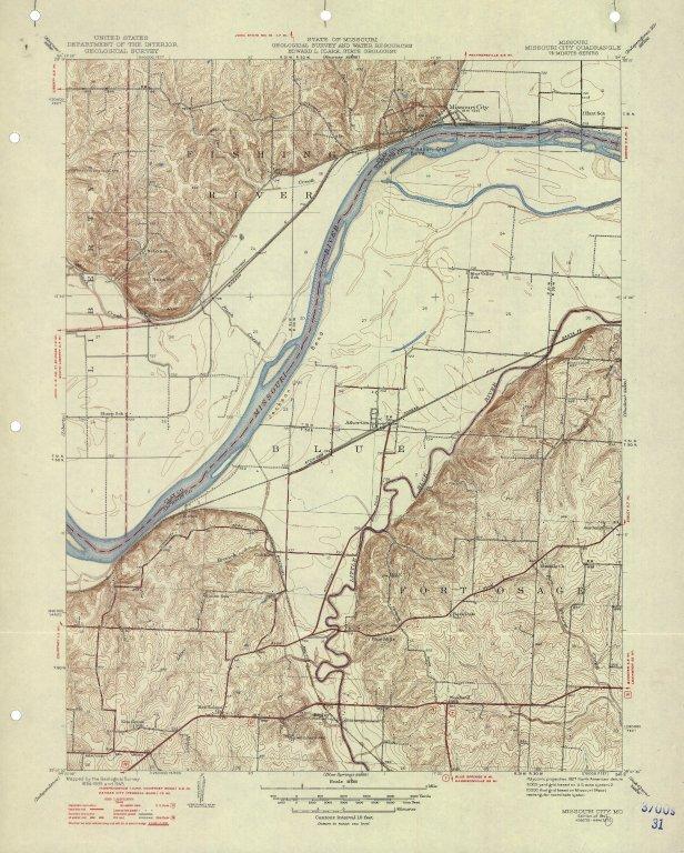 [Missouri, Missouri City quadrangle : 7 1/2-minute series, Missouri City, Mo.]