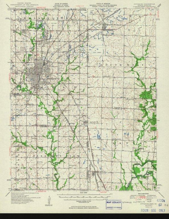 [Pittsburg quadrangle, Kansas-Missouri : 15-minute series (topographic), Pittsburg, Kans.-Mo.]