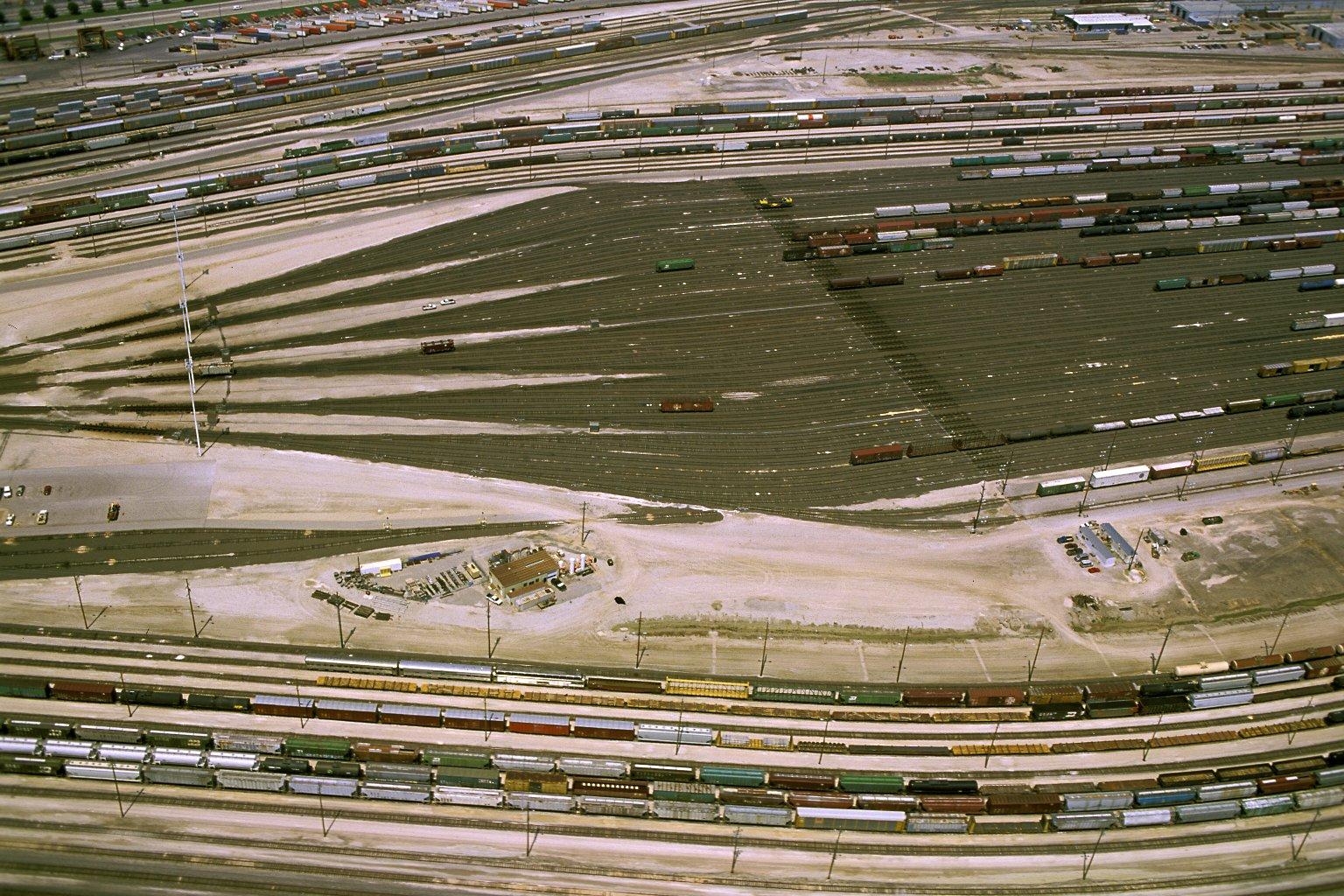 View of Argentine Rail Yard in Kansas City, Kansas