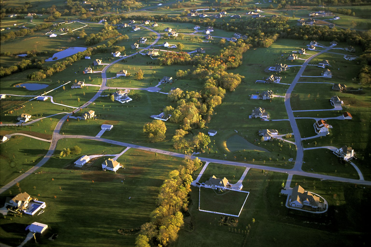 Large-lot exurban homes